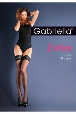 Gabriella 643 Erotica Calze Classic czerwony pończochy