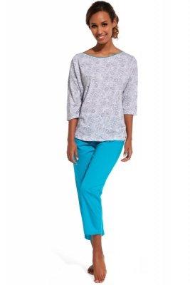 Cornette 147/141 Cleo szary piżama damska