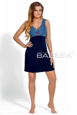 Babella larisa granat niebieski koszula nocna