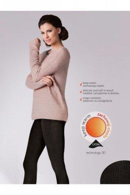 Gabriella 412 warm up fashion 200 den nero rajstopy