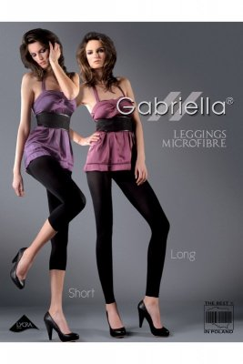 Gabriella 138 microfibra short grey legginsy