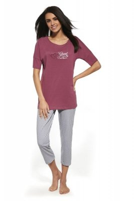 Cornette 087/131 Great love różowy piżama damska