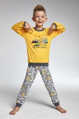 db44cc10099ff4 Dodaj do przechowalni Cornette 593/73 Construction żółty piżama chłopięca
