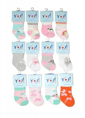 YO! SKC Baby Girl 0-9 m-cy A'12 mix skarpetki