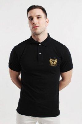 Orlovski Polo Herb czarna koszulka męska