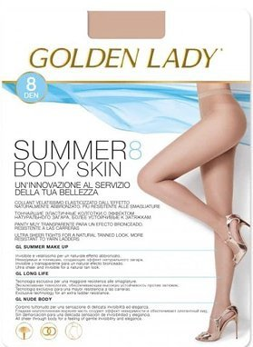 Golden Lady Summer Body Skin 8 den 5-XL rajstopy