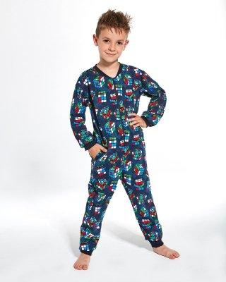 Cornette Young Boy 186/108 Cubes 134-164 kombinezon piżama chłopięca