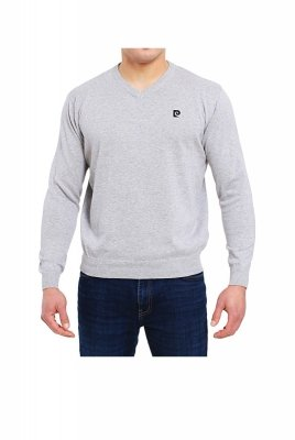 Pierre Cardin V-Logo szary Sweter