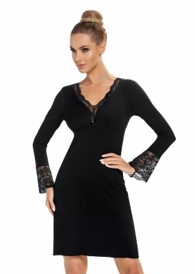 Donna Stella II czarna Koszula nocna