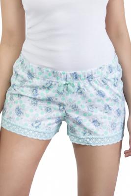 Babella Mint Roses 3126 damskie spodenki piżamowe