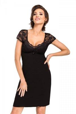 Donna Brigitte czarna Koszula nocna