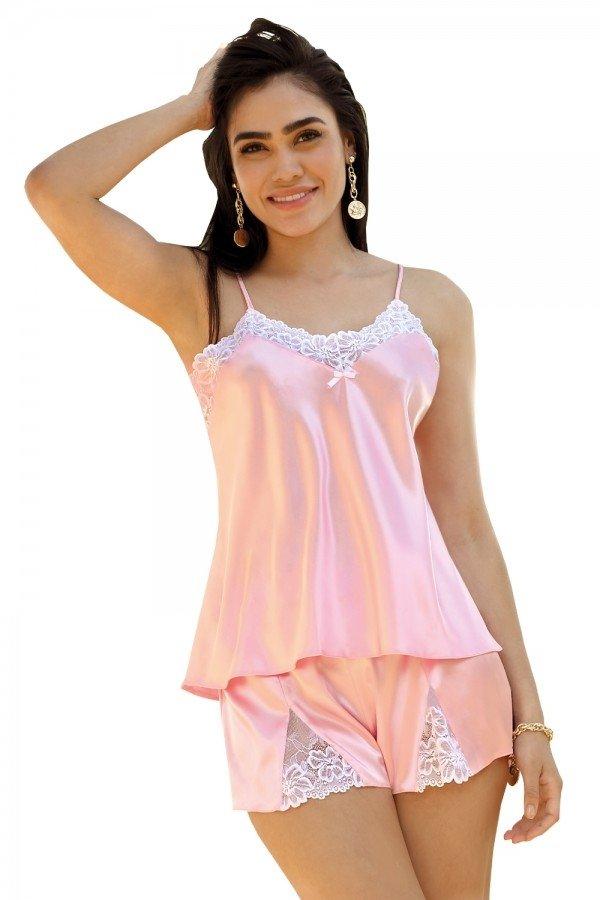 DKaren Eleonor Różowy piżama damska