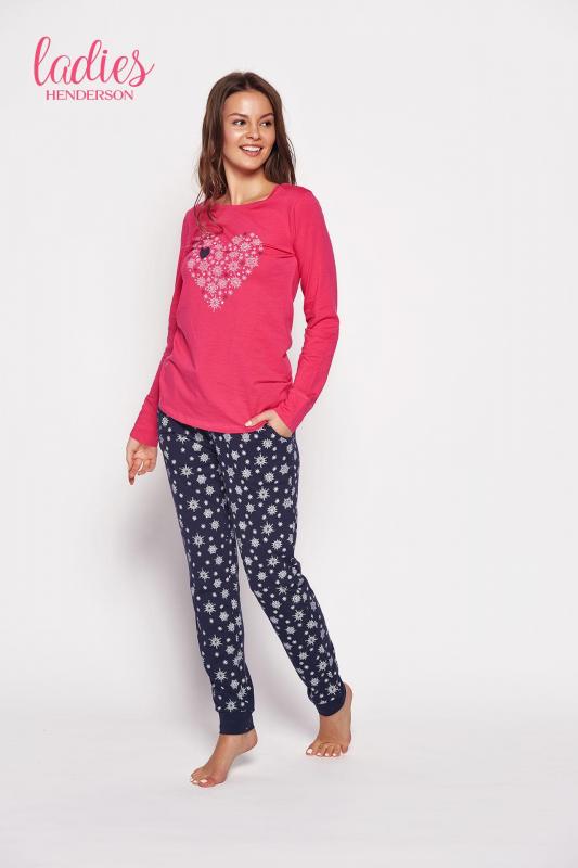 Esotiq Gioia 35599-43x Różowo-granatowa piżama damska