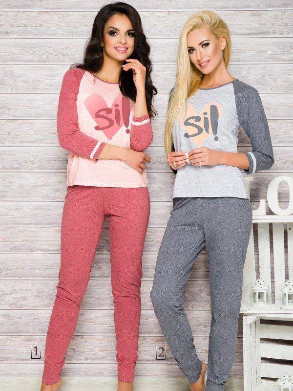 Taro Hana 2118 AW/17 K1 Różowa piżama damska