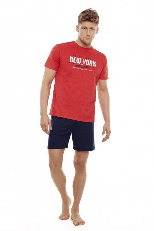 Henderson East 35734-33X Czerwono-grafitowa piżama męska