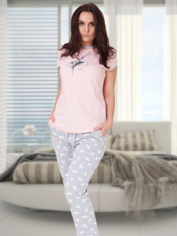 M-Max Liwia 630 Różowa piżama damska