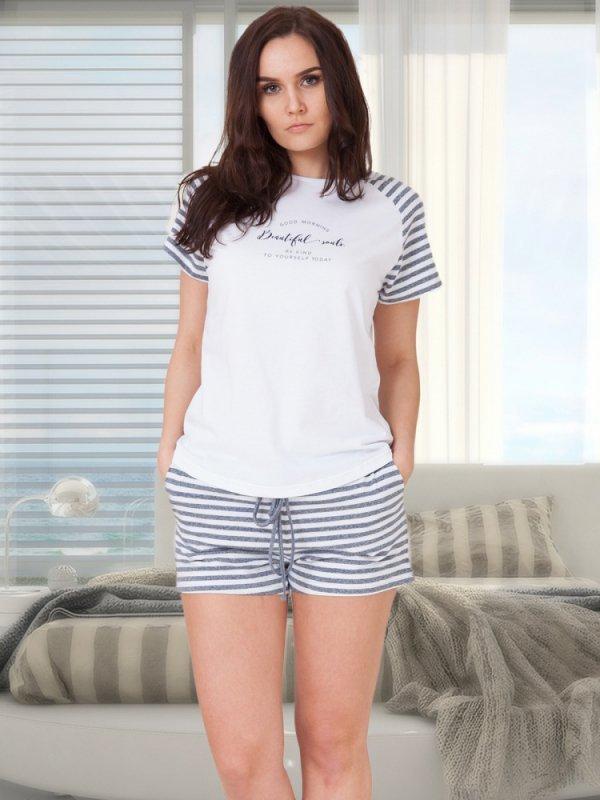 M-Max Amanda 615 Granatowy melanż piżama damska