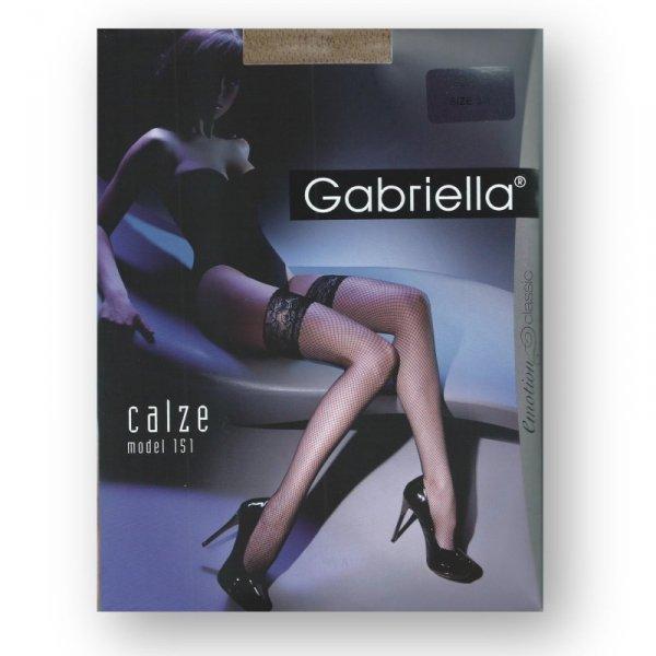 Gabriella 221 czarne plus pończochy damskie