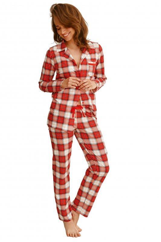 Taro 2584 Celine czerwona piżama damska