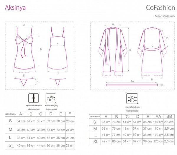 Cofashion Aksinya Koszulka i szlafrok