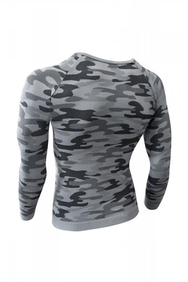 Sesto Senso Thermo Active Military Style długi rękaw popiel Koszulka męska