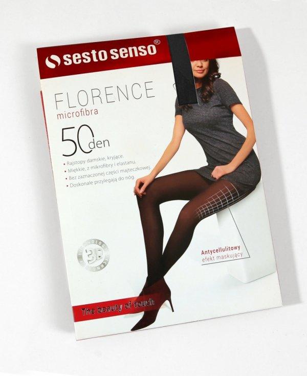 Sesto Senso Florence 50 DEN antycellulitowe czarne Rajstopy damskie