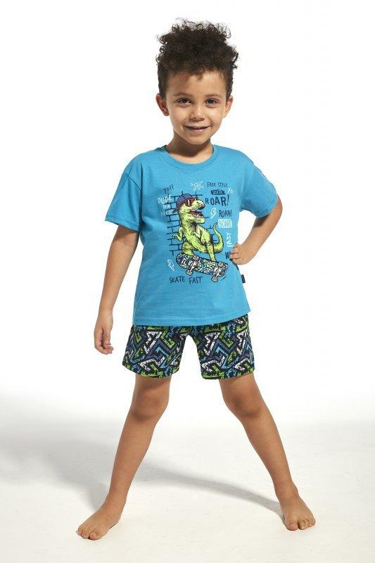 Cornette 789/66 kids dinosaur turkus piżama chłopięca