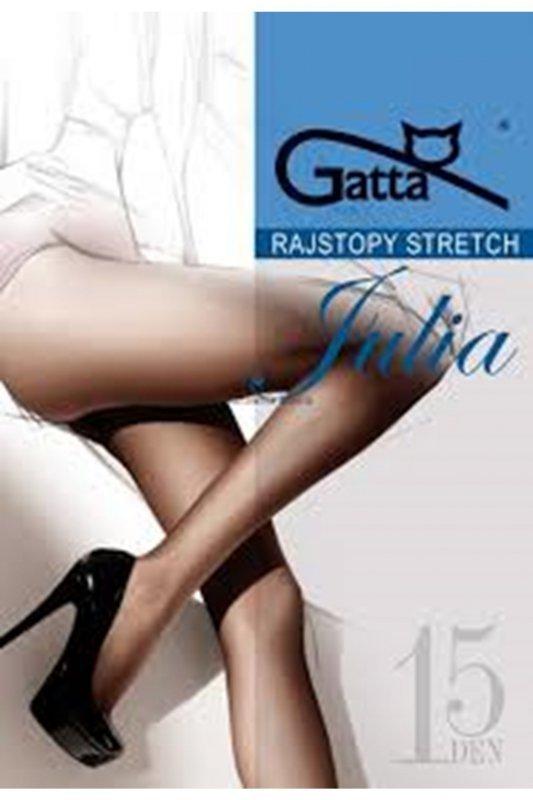 Gatta julia stretch 15 den plus brązowy rajstopy