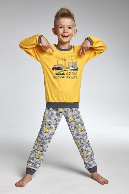 Cornette 593/73 Construction żółty piżama chłopięca