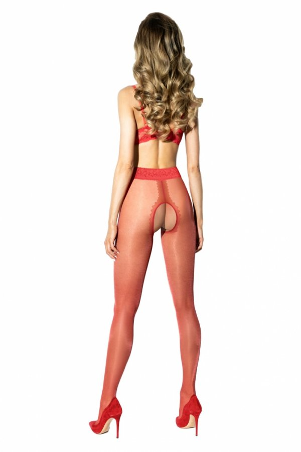 Amour Hip Lace Red 30 DEN Rajstopy