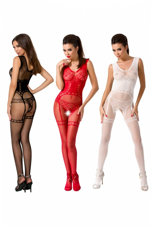 Passion BS052 red Bodystocking
