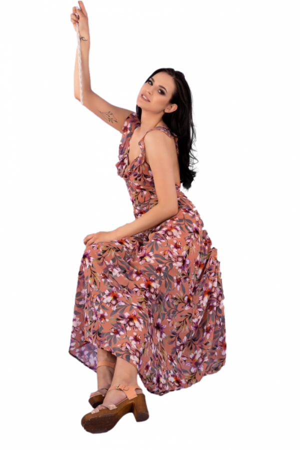 Merribel Trina Kasztanowa sukienka damska