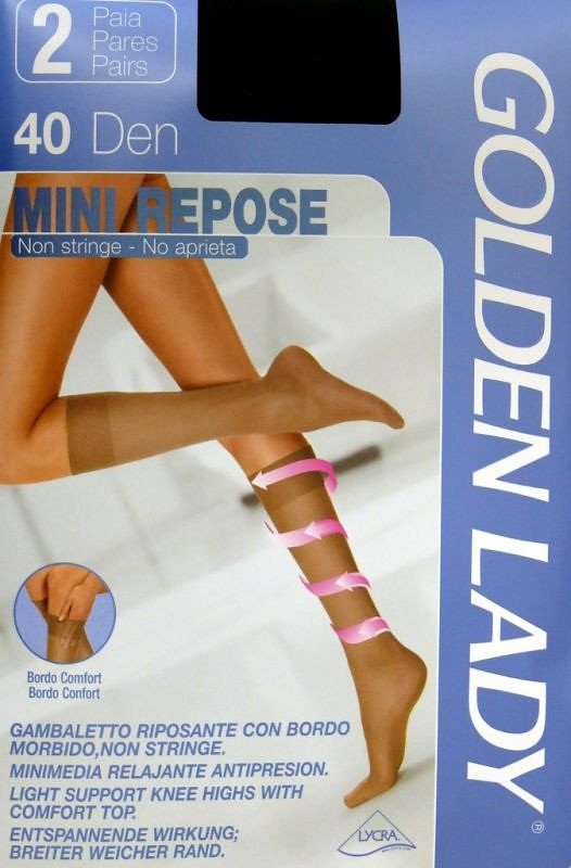 Golden Lady Mini Repose| 40 den A'2 2-pack podkolanówki