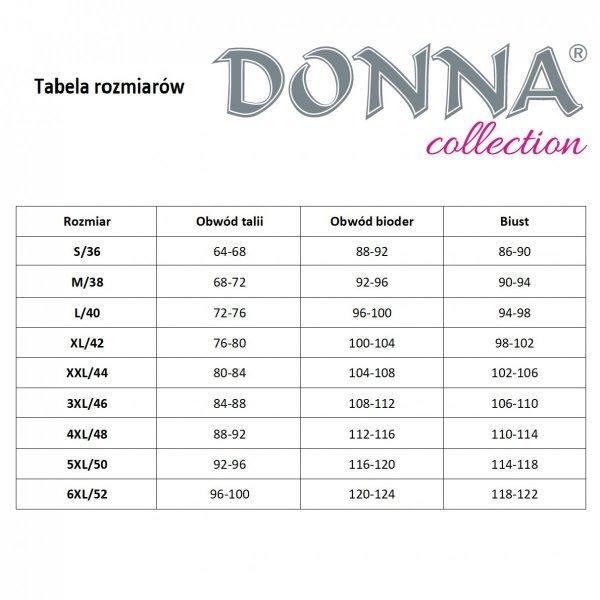Donna Mika 1/2 czarna Piżama damska