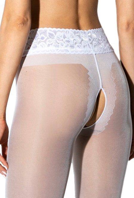 Amour Hip Lace White 30 DEN Rajstopy