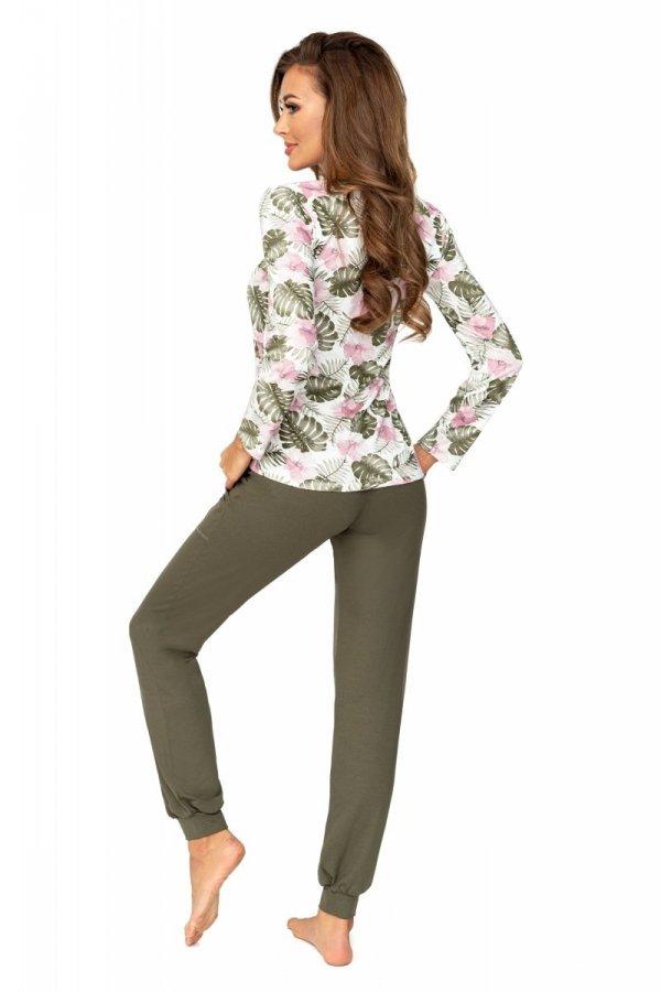 Donna Mila dł. spodnie khaki Piżama damska