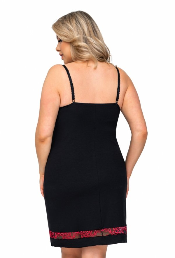 Donna Alexia czarna Koszula nocna Size Plus