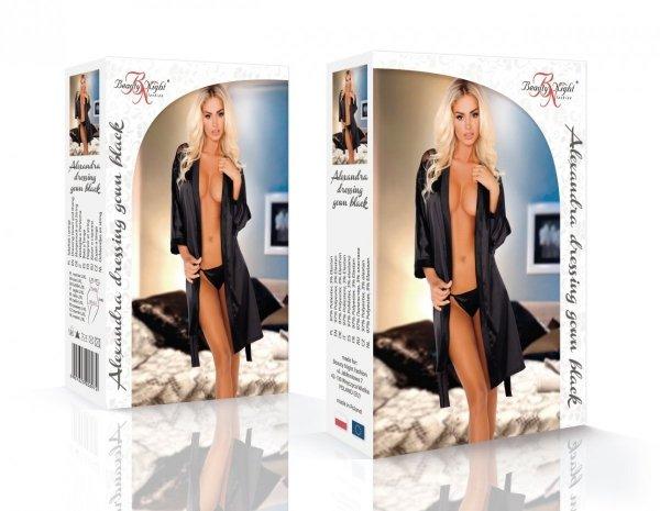 Beauty Night Alexandra black Szlafrok