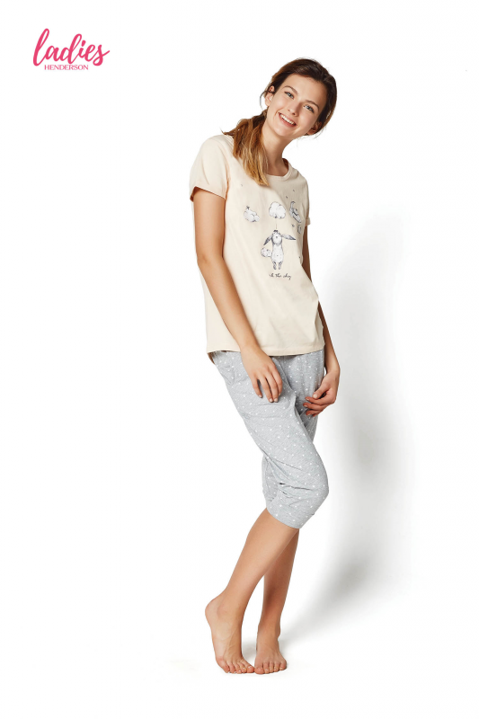 90e3d99f670a01 Henderson Rakel 35255-03X Pastelowy róż piżama damska - Piżamy ...