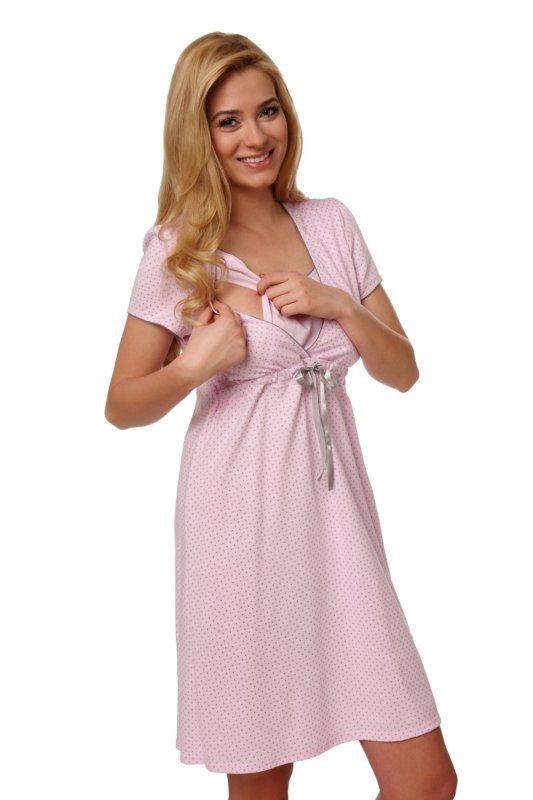 9665bfcfe25ea8 Italian Fashion felicita krótki rękaw różowy koszula nocna - Piżamy ...