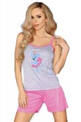 MODEL 723/1 PINK piżama groszki