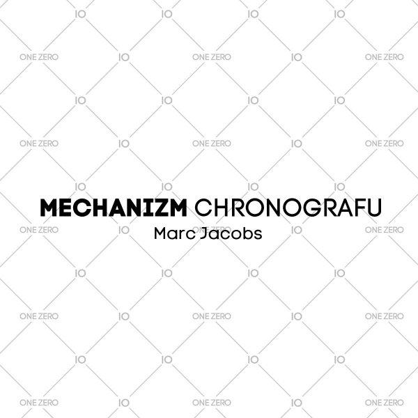 mechanizm chronografu Marc Jacobs • ONE ZERO • Modne zegarki i biżuteria • Autoryzowany sklep