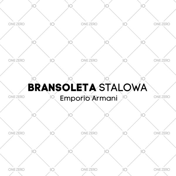 bransoleta stalowa Emporio Armani - kolor