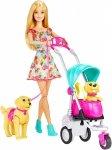 Lalka Barbie i jej urocze pieski na spacerze