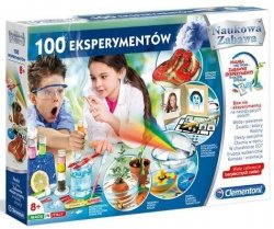 Zestaw doświadczalny 100 Eksperymentów Naukowa Zabawa Clementoni 50522