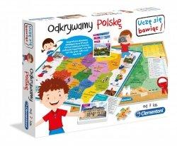 Gra edukacyjna Odkrywamy Polskę mapa Clementoni 60922