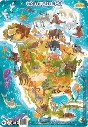 Puzzle Ramkowe Ameryka Północna 53 el. Dodo 300177
