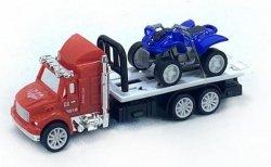 Ciężarówka Zabawka z Lawetą i Quadem 13 cm