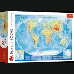 Puzzle Wielka Mapa Fizyczna 4000 el. Trefl 45007