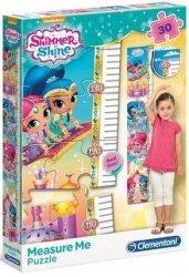Puzzle Measure Me 30 el. Miarka Wzrostu Shimmer and Shine Clementoni 20322